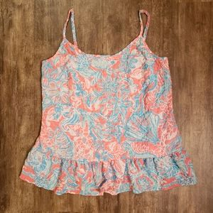 Lily Pulitzer XS TANK Top Beach Vibes